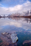 Lake CuoxueRenma. Is under mount Makalu——The 5th highest mount of the world, part of Himalaya mountain. It is also known as Karma Valley Stock Photo