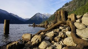 Lake Cushman winter royalty free stock photos