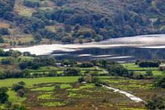 LAKE CWELLYN, SNOWDONIA/WALES - OCTOBER 7 : View down to Lake Cw Stock Images