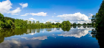 Lake in Czech countryside. Summer landscape in Czech countryside royalty free stock photos