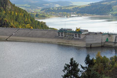 Lake Czorsztyn dam Stock Photography