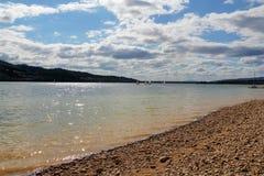 Lake Czorsztyn in southern Poland Royalty Free Stock Photo