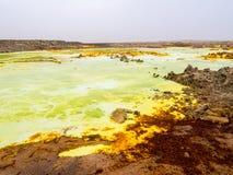 Lake Dallol in Danakil Depression, Ehtiopia Royalty Free Stock Photography