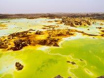 Lake Dallol in Danakil Depression, Ehtiopia Royalty Free Stock Photo
