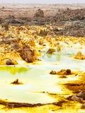 Lake Dallol in Danakil Depression, Ehtiopia Royalty Free Stock Images