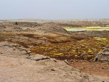 Lake Dallol in Danakil Depression, Ehtiopia Stock Images