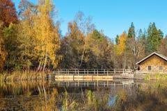 Lake dam Stock Photography