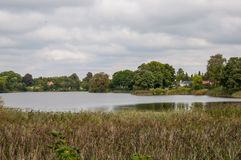 Lake in Danish town. Lake in town of Soroe in Denmark stock photography