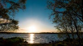 Lake during dawn stock image