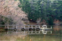 Lake daylesford royalty free stock photos