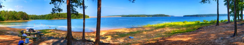 Lake De Gray, panoramisch Lizenzfreie Stockbilder