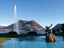 2013-Lake de Lugano Imágenes de archivo libres de regalías