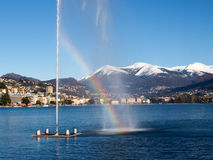 2013-Lake de Lugano Photo stock