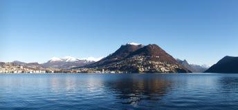 2013-Lake de Lugano Foto de archivo libre de regalías