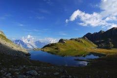 Lake de Voux. At Lake de Voux in the Swiss Alps Stock Photos
