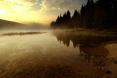 Lake in Deep Forest Royalty Free Stock Images