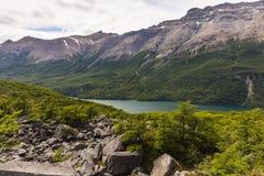 Lake Del Desierto, Berge und Wald Lizenzfreie Stockfotos