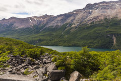 Lake del Desierto, mountains and forest Royalty Free Stock Photos