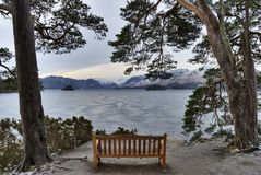 Lake Derwent Water in winter Royalty Free Stock Photo