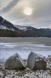 Lake Derwent Water in winter Stock Image