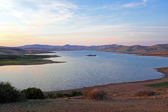 Lake in the desert from Marocco Royalty Free Stock Images