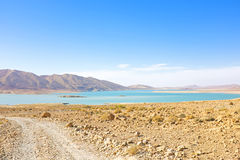 Lake in the desert from Morocco Stock Images