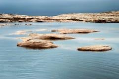 Lake in desert mountains Stock Images