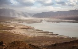 Lake in desert mountains Stock Image