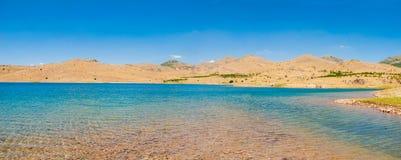 The lake in the desert in Sandikli, Turkey Stock Image