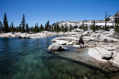 Lake in Desolation Wilderness of Eastern California Royalty Free Stock Images