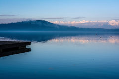 Lake detail. Scenery of the lake to represent the quiet and peace Royalty Free Stock Image