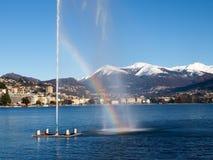 2013-Lake di Lugano Fotografia Stock