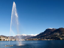 2013-Lake di Lugano Fotografie Stock