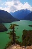 Lake Diablo. Green Waters of Lake Diablo, North Cascades, Washington, United States Royalty Free Stock Photos