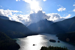 Lake Diablo Cascade Mountains Stock Photos