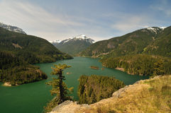 Lake Diablo in North Cascades Royalty Free Stock Image