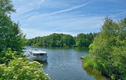 Lake Dieksee,holstein Switzerland,Germany. Tourboat on Lake Dieksee in holstein Switzerland near Malente,Schleswig-Holstein,Germany Stock Image