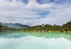 Lake in Dieng stock photo