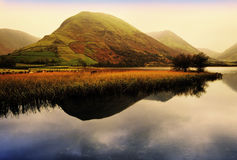 Lake district. National park cumbria england uk - crummock water at sunsrise Royalty Free Stock Images
