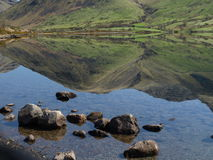 Lake District. Mountains and lake in Lake District in Cumbria in UK Royalty Free Stock Image