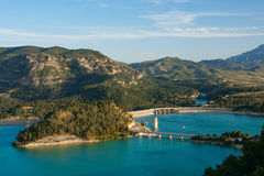 Lake district in Andalusia Royalty Free Stock Photos