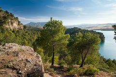 Lake district in Andalusia Royalty Free Stock Images