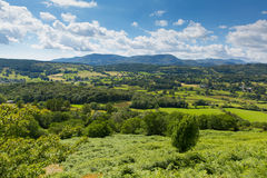 Lake District countryside view Hawkshead Cumbria England uk Royalty Free Stock Image