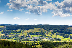 Lake District countryside view to Hawksheadvillage England uk Stock Image