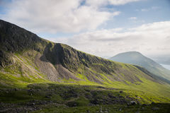 Lake district, Cumbria. Base of Scaffel Pike wiev Royalty Free Stock Photos