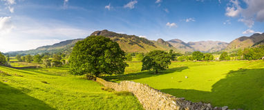 Lake District, Cumbria, UK. Mountains and meadows in Cumbria, Uk Royalty Free Stock Photography