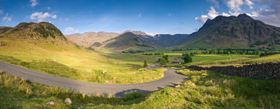 Lake District, Cumbria, UK. Mountains and meadows in Cumbria, Uk Royalty Free Stock Image