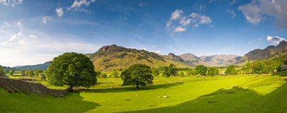 Lake District, Cumbria, UK. Mountains and meadows in Cumbria, Uk Stock Images