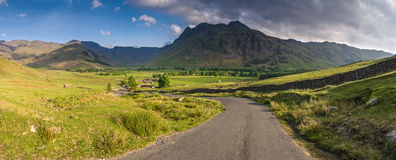Lake District, Cumbria, UK. Mountains and meadows in Cumbria, Uk Royalty Free Stock Photo