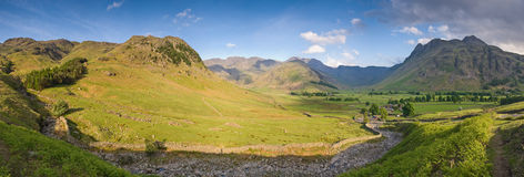 Lake District, Cumbria, UK. Mountains and meadows in Cumbria, Uk Stock Image